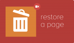 Restore a Page