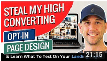 Miles Beckler Steal My High Converting Opt-In Page Design & Learn What To Test On Your Landing Pages