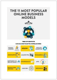 11 Most Popular Online Business Models-Empire