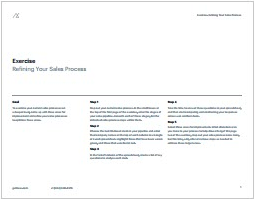 Exercise Refining Your Sales Process-Getbase