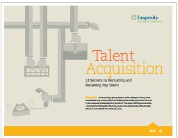Talent acquisition 13 secrets to recruiting and retaining top talent-Insperity