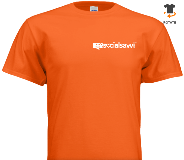 Front of Orange SocialSavvi T-Shirt