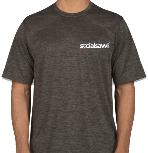 Front of Gray SocialSavvi T-Shirt
