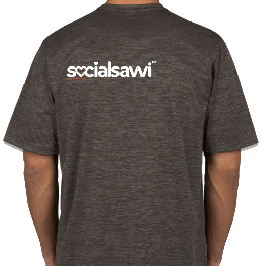 Back of Gray SocialSavvi T-Shirt