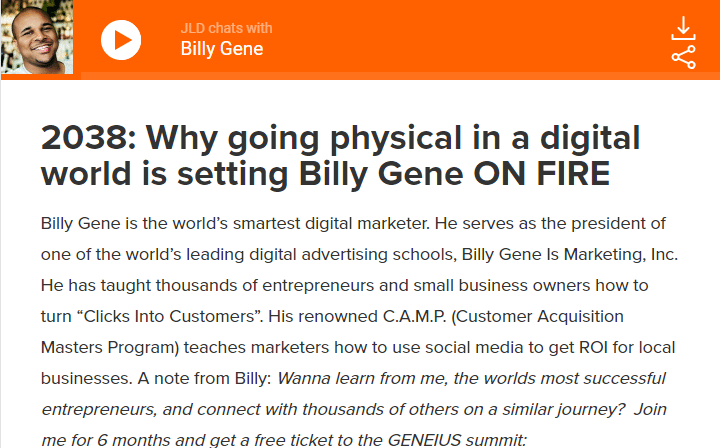 Why going physical in a digital world is setting Billy Gene ON FIRE